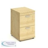 Trexus 2 Drawer Filing Cabinet 500x600x800mm Maple Ref I000252