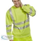 B-Seen Sweatshirt Hi-Vis Polyester 280gsm S Saturn Yellow Ref BSSENSYS *Up to 3 Day Leadtime*