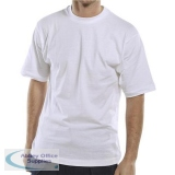 Click Workwear T-Shirt 150gsm Large White Ref CLCTSWL *Up to 3 Day Leadtime*