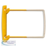 Jalema Filing Clip Yellow/White Ref 5710200 [Pack 10]