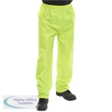 B-Dri Weatherproof Trousers Nylon Lightweight S Saturn Yellow Ref NBDTSYS *Up to 3 Day Leadtime*