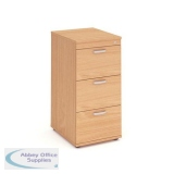 Trexus 3 Drawer Filing Cabinet 500x600x1125mm Beech Ref I000073