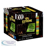 Post-it Extreme Notes 76x76mm Assorted 4 Colours Ref EXT33M-12-UKSP Packs of 12 Pads x 45 Sheets