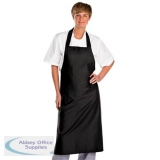Click Workwear Chefs Bib Apron Black 32x40in Ref CCCBABL34X40 *Up to 3 Day Leadtime*