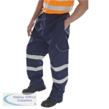 B-Dri Weatherproof Over Trousers Polyester Cargo Pockets S Navy Blue Ref BD118NS *Up to 3 Day Leadtime*