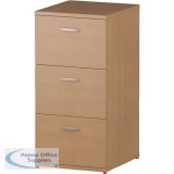 Trexus 3 Drawer Filing Cabinet 500x600x1125mm Oak Ref I000781