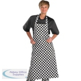 Click Workwear Chefs Bib Apron Black/White 32x40in Ref CCCBABLW34X40 *Up to 3 Day Leadtime*
