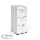 Trexus 3 Drawer Filing Cabinet 500x600x1125mm White Ref I000193