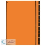Pagna Master Organiser Hardback 7 Part Elasticated Strap A4 Orange Ref 2412909 [Pack 10]