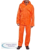B-Dri Weatherproof Suit Nylon Jacket and Trouser 5XL Orange Ref NBDSOR5XL *Up to 3 Day Leadtime*