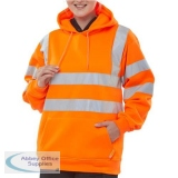 B-Seen Sweatshirt Hooded Hi-Vis 280gsm 2XL Orange Ref BSSSH25ORXXL *Up to 3 Day Leadtime*