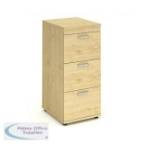 Trexus 3 Drawer Filing Cabinet 500x600x1125mm Maple Ref I000253
