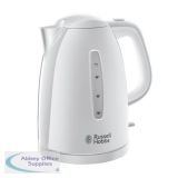 Russell Hobbs Textures Kettle 1.7L 3000W 360 Degrees Rotation Auto-off Safety Lid White Ref RH2127