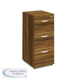 Trexus 3 Drawer Filing Cabinet 500x600x1125mm Walnut Ref I000133