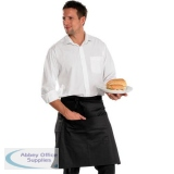 Click Workwear Chefs Half Apron Black 29X22 Ref CCCHABL29X22 *Up to 3 Day Leadtime*