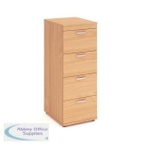 Trexus 4 Drawer Filing Cabinet 500x600x1445mm Beech Ref I000074