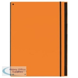 Pagna Master Organiser Hardback 12 Part Elasticated Strap A4 Orange Ref 2407909 [Pack 8]