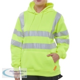 B-Seen Sweatshirt Hooded Hi-Vis 280gsm Large Saturn Yellow Ref BSSSH25SYL *Up to 3 Day Leadtime*