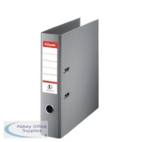 Esselte No. 1 Power Lever Arch File PP Slotted 75mm Spine A4 Grey Ref 811380 [Pack 10]