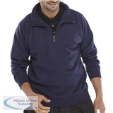 Click Workwear Sweatshirt Quarter Zip 280gsm S Navy Blue Ref CLQZSSNS *Up to 3 Day Leadtime*