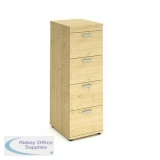 Trexus 4 Drawer Filing Cabinet 500x600x1445mm Maple Ref I000254