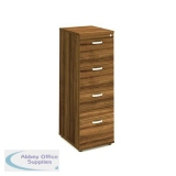 Trexus 4 Drawer Filing Cabinet 500x600x1445mm Walnut Ref I000134