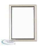 5 Star Facilities Snap De Luxe Certificate Frame Holds Standard A4 Certificates 260x20x347mm Silver