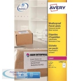 Avery Parcel Labels Weatherproof Laser 8 per Sheet 99.1x67.7mm White Ref L7993-25 [200 Labels]