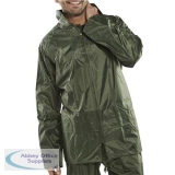 B-Dri Weatherproof Jacket with Hood Lightweight Nylon 2XL Olive Green Ref NBDJOXXL *Up to 3 Day Leadtime*