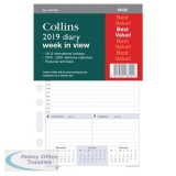 Collins 2019 Desk Diary Refill Week to View Ref DK1700-19