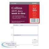 Collins 2019 Pocket Diary Refill Week to View Ref KT3700-19