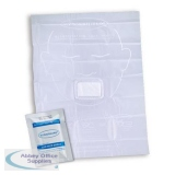 Click Medical Face Shield with Hydrophobic Filter Compact Size White Ref CM0472 *Up to 3 Day Leadtime*