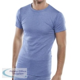 Click Workwear Vest Short Sleeve Thermal Lightweight Small Blue Ref THVSSS *Up to 3 Day Leadtime*