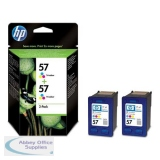 Hewlett Packard No57 Inkjet Cartridge 3-Colour Pack of 2 C9503AE