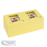 Post-it Super Sticky Removable Notes Pad 90 Sheets 76x76mm Canary Yellow Ref 654S6