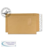 Blake Avant Garde Envelope Gusset Pocket P&S Window 140gsm C4 Cream Manilla Ref AG0054 [Pack 100]