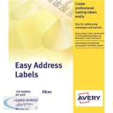 Avery Easy Address Labels Dot Matrix Word Processor 4 per FanFold 89x37mm White Ref EAL01 [500 Labels]