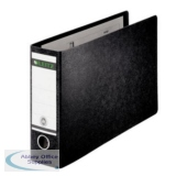 Leitz Board Lever Arch File Oblong Landscape 77mm Spine A3 Black Ref 1073-00-95 [Pack 2]