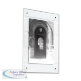 5 Star Facilities Acrylic Wall Display Frame Magnetic Closure A4 297x210mm Clear