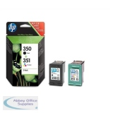 HPSD412EE - Hewlett Packard No350/351 Inkjet Cartridge Combo Pack Black/Colour SD412EE