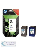 Hewlett Packard No56/57 Inkjet Cartridge Combo Pack Black/Colour SA342AE