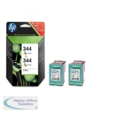 Hewlett Packard No344 Inkjet Cartridge 3-Colour Pack of 2 C9505EE