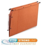 Elba Ultimate AZV Linking Lateral File Manilla 15mm V-base 240gsm A4 Orange Ref 100330473 [Pack 25]