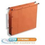 Elba Ultimate AZV Linking Lateral File Manilla 30mm Wide-base 240gsm A4 Orange Ref 100330475 [Pack 25]