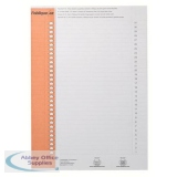 Elba Polypro Card Inserts for Lateral Susp File Tabs 10 Sheets of 31 Tabs White Ref 100330212 [Pack 310]