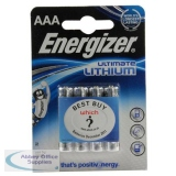 Energizer Ultimate Lithium Battery AAA DFB4 Pack of 4 627326