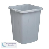 Durable Durabin Slim Bin for Recycling Waste 90 Litre Capacity 515x485x605mm Grey Ref 1800474050