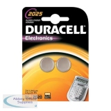 Duracell Button Battery Lithium 3V DL2025 Pack of 2 75072667