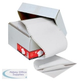 5 Star Office Listing Paper 3-Part Carbonless Perforated 56/53/57gsm 11inchx241mm Plain White [700 Sheet]