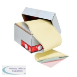 5 Star Office Listing Paper 4-Part NCR Microperf 80/50/50/55gsm A4 White/Yellow/Pink/Green [500 Sheets]